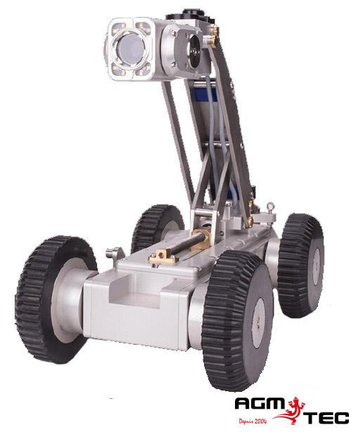 Caméra sur un chariot motorisé d'inspection