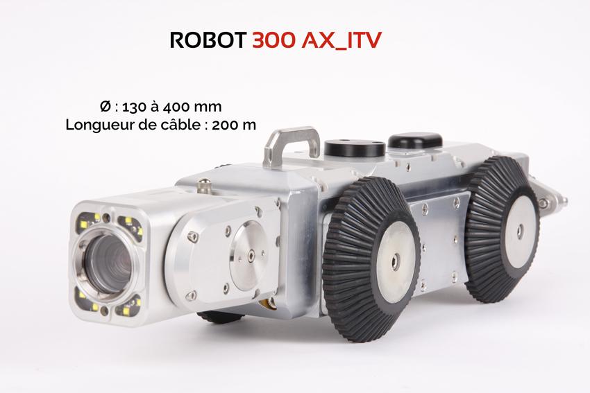 Caméra motorisée pour inspections de canalisations