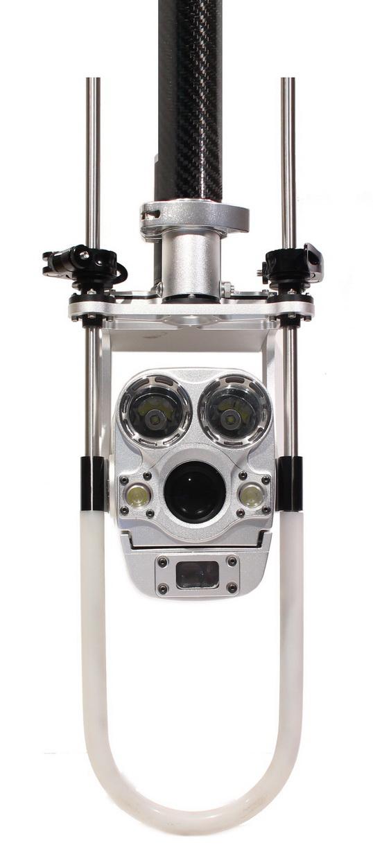 Caméra super zoom d'égouts sur perche télescopique